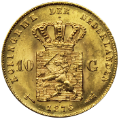 10 Florins OR PAYS-BAS WILLEM III